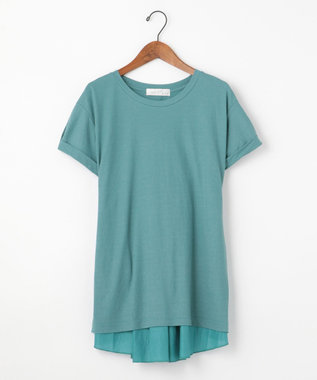 自由区 【Unfilo】KANOKO BLEND 異素材コンビ カットソー ブルー系