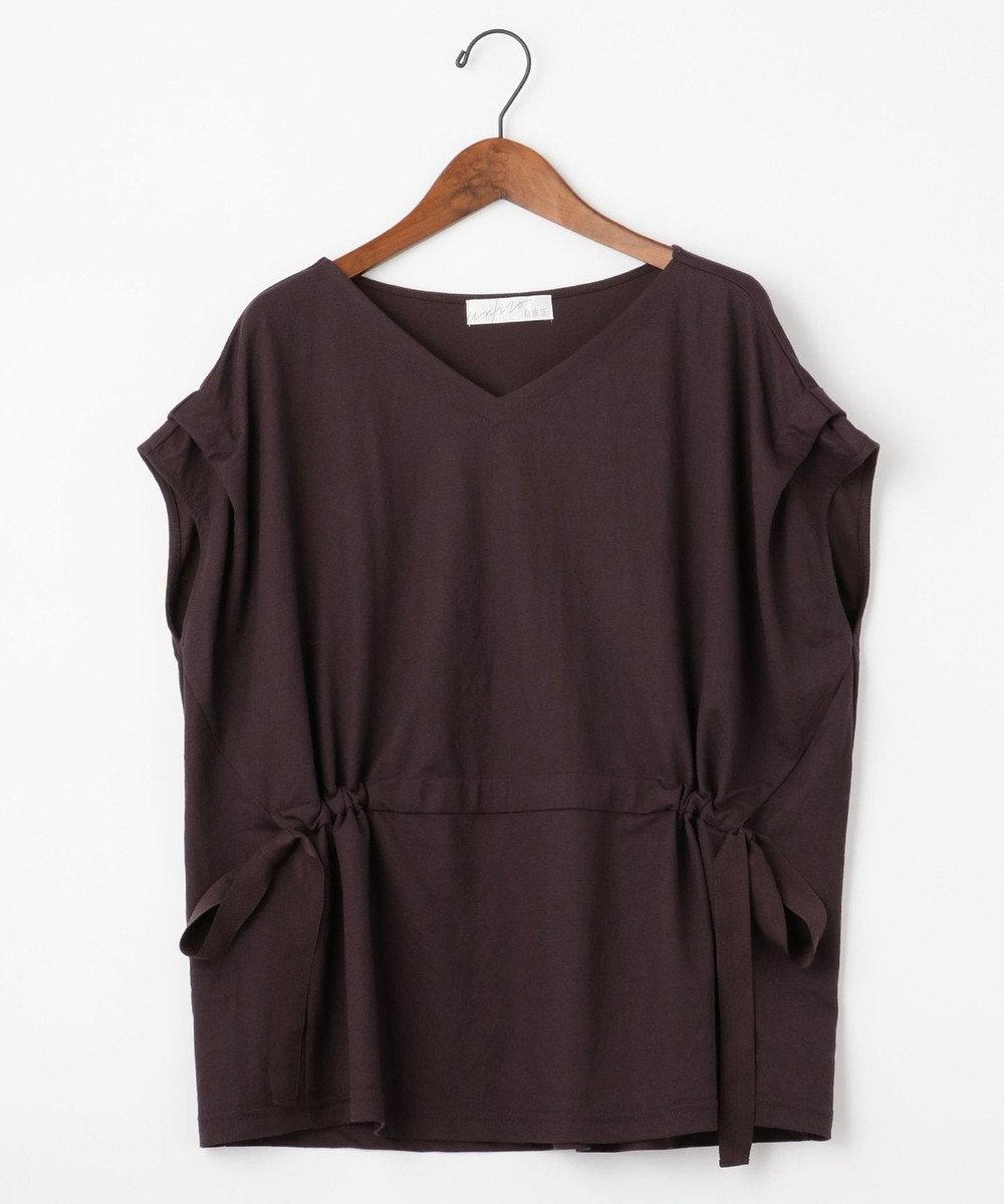 自由区 【Unfilo】KANOKO BLEND ドロストデザイン カットソー ダークブラウン系