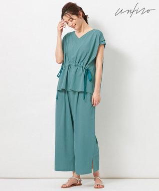 自由区 【Unfilo】KANOKO BLEND ドロストデザイン カットソー ブルー系