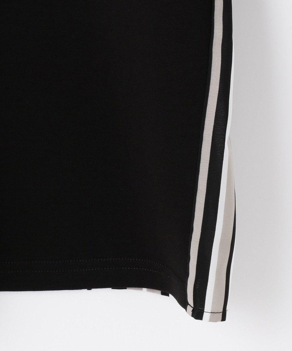 自由区 【Unfilo】コットンスムース 異素材コンビ カットソー ブラック系