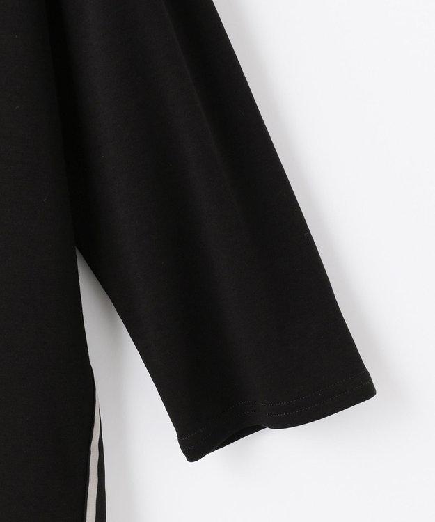 自由区 【Unfilo】コットンスムース 異素材コンビ カットソー