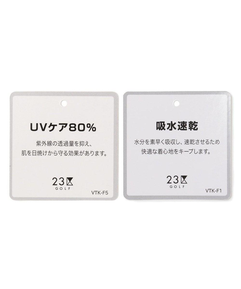 23区GOLF 【WOMEN】【吸汗速乾/UV】ワッペンモチーフ ジャガードシャツ ワイン系