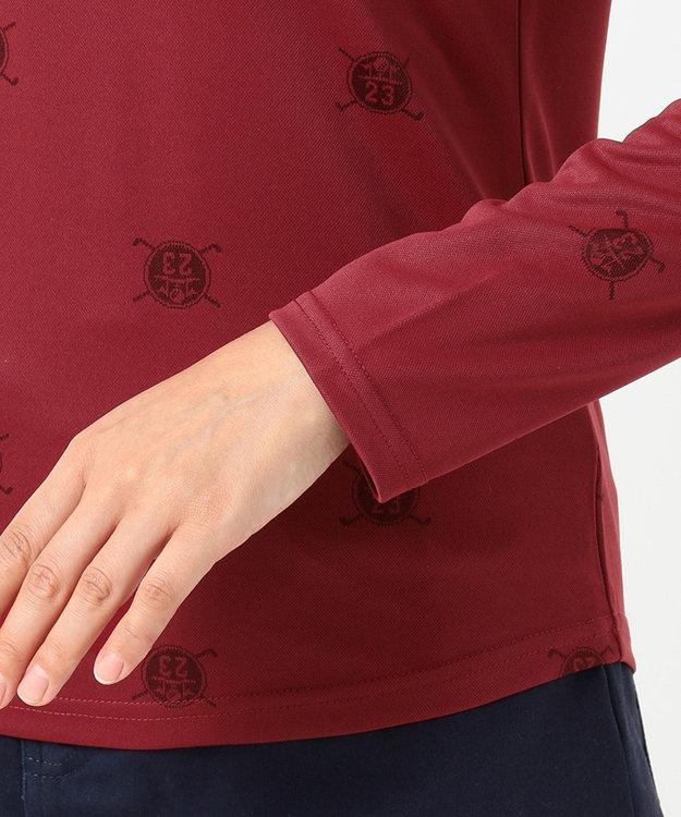 23区GOLF 【WOMEN】【吸汗速乾/UV】ワッペンモチーフ ジャガードシャツ