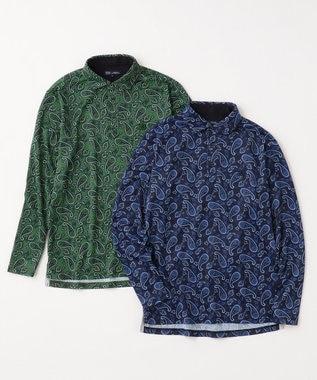 23区GOLF 【MEN】【吸水速乾】ペイズリープリントシャツ ネイビー系5
