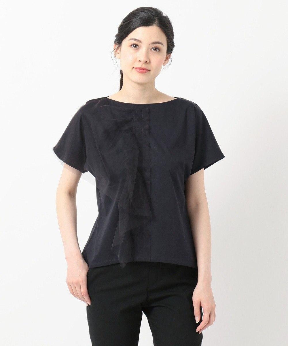 自由区 【Class Lounge】TECHNO RAMA チュールデザインTシャツ ネイビー系