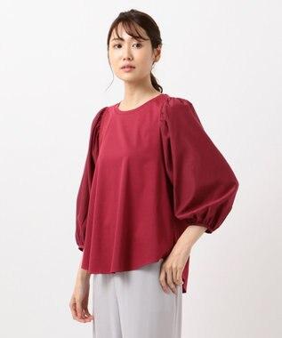 自由区 【Class Lounge】TECHNO RAMA ボリューム スリーブ Tシャツ レッド系