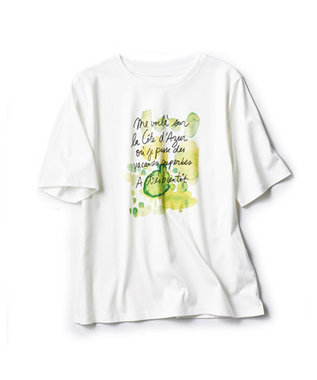 自由区 L 【マガジン掲載】PENELOPE グラフィックTシャツ(検索番号G24) ピーコックグリーン系7