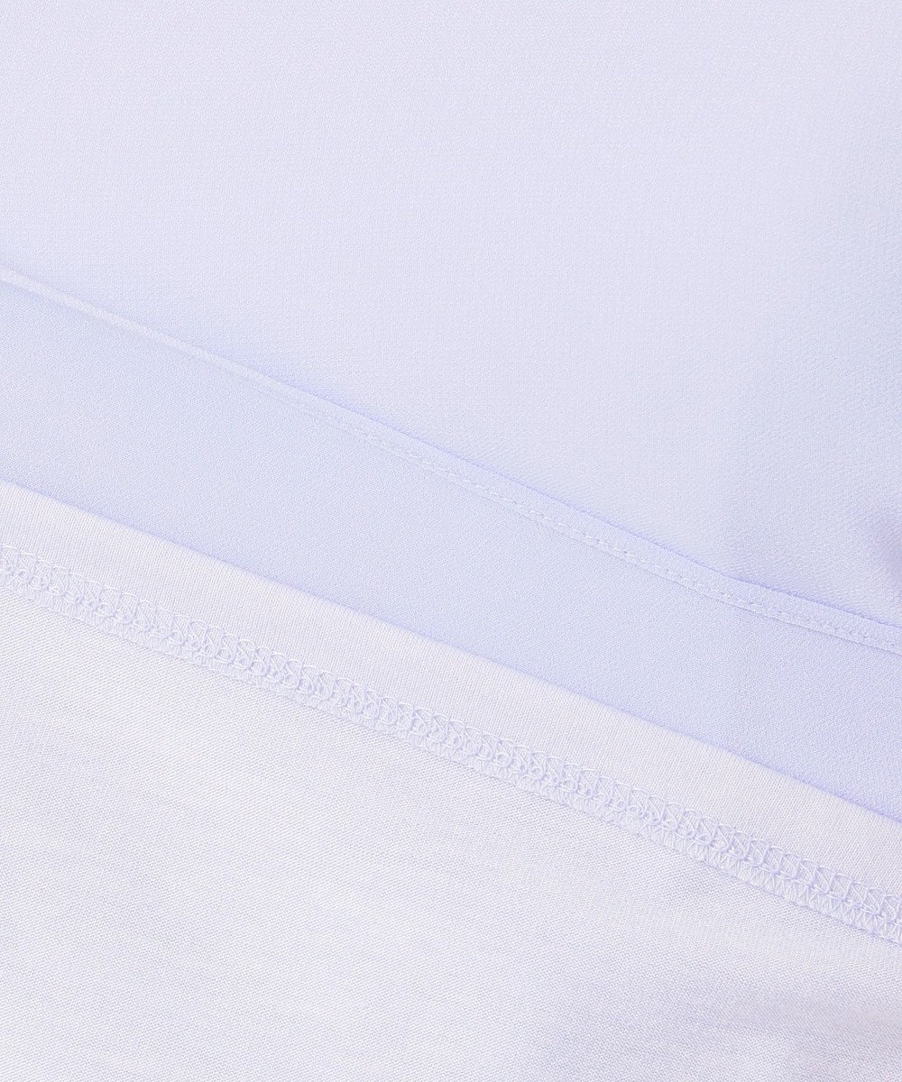 自由区 【マガジン掲載】シフォン×ジャージー コンビブラウス(検索番号F28) スカイブルー