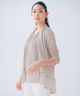 自由区 【新色追加】ラメパルサー ミドル丈カーディガン(検索番号H47) ベージュ