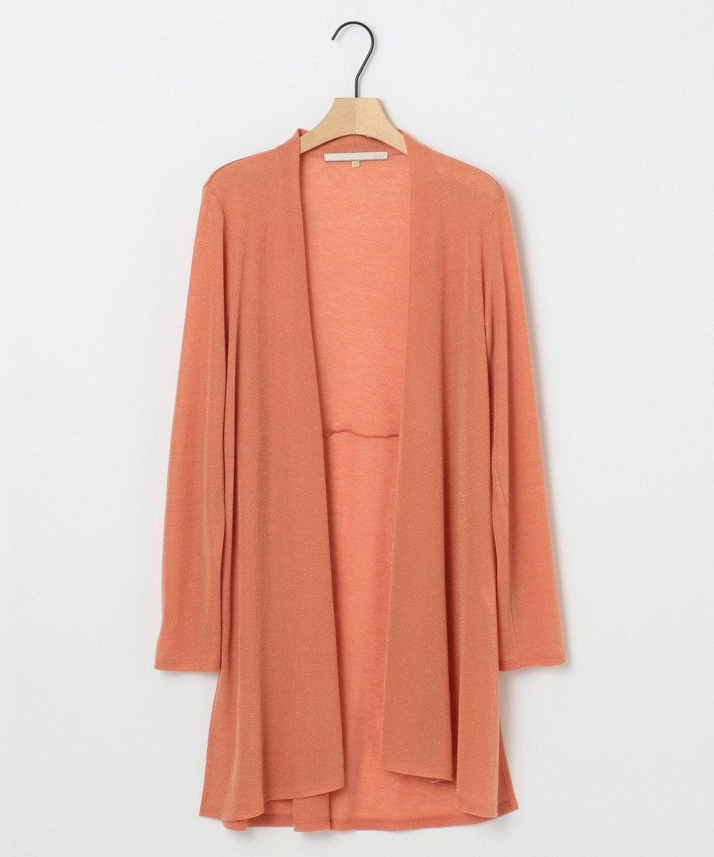 自由区 L 【新色追加】ラメパルサー ロング丈カーディガン(検索番号H48) ピンク
