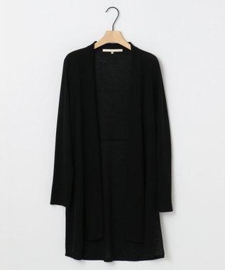 自由区 L 【新色追加】ラメパルサー ロング丈カーディガン(検索番号H48) ブラック