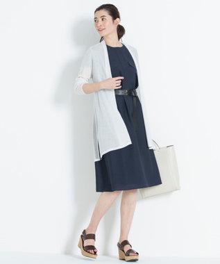 自由区 L 【新色追加】ラメパルサー ロング丈カーディガン(検索番号H48) ホワイト
