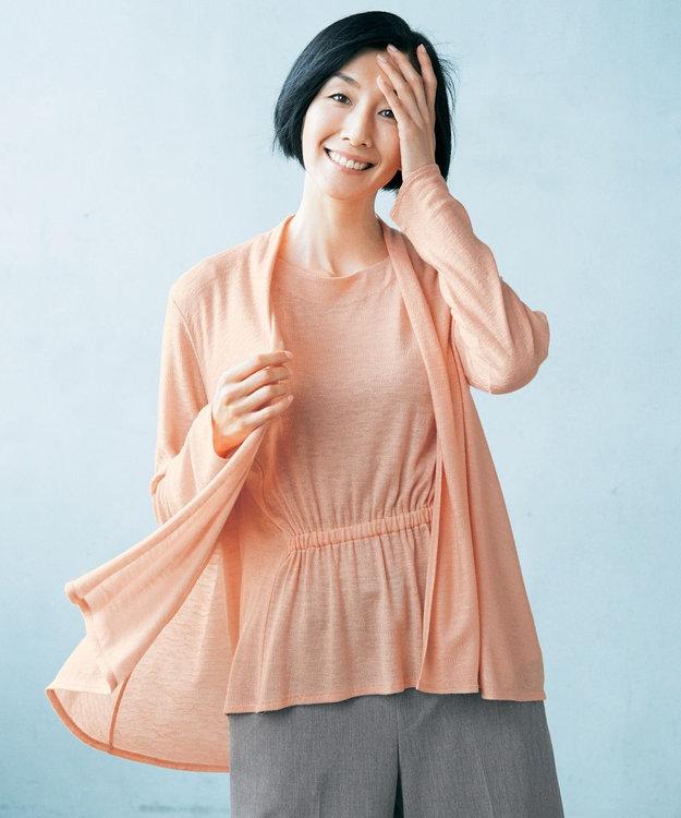 自由区 L 【マガジン掲載】テンセルカシミヤ ミドル丈カーディガン(検索番号Q44)