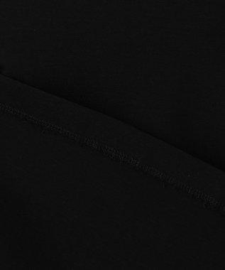 23区 S 【洗える】コンパクトポンチバックプリーツカットソー ブラック系