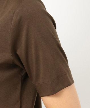 23区 【洗える】DOUBLE SMOOTH ボートネック Tシャツ ダークブラウン系