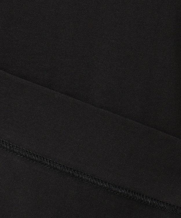 23区 【洗える】スビンコットン ジャージー カットソー ブラック系