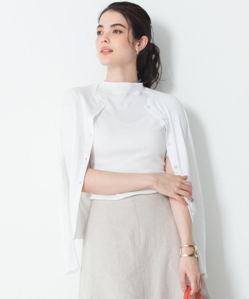 23区 【洗える】ALBINIセーターマシーン カーディガン ホワイト系