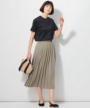 23区 【洗える】ALBINIプリントTシャツ ブラック系