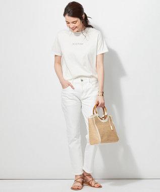 23区 【洗える】ALBINIプリントTシャツ ホワイト系