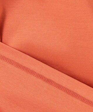 23区 S 【洗える】コットンクリアジャージー フレアスリーブカットソー オレンジ系