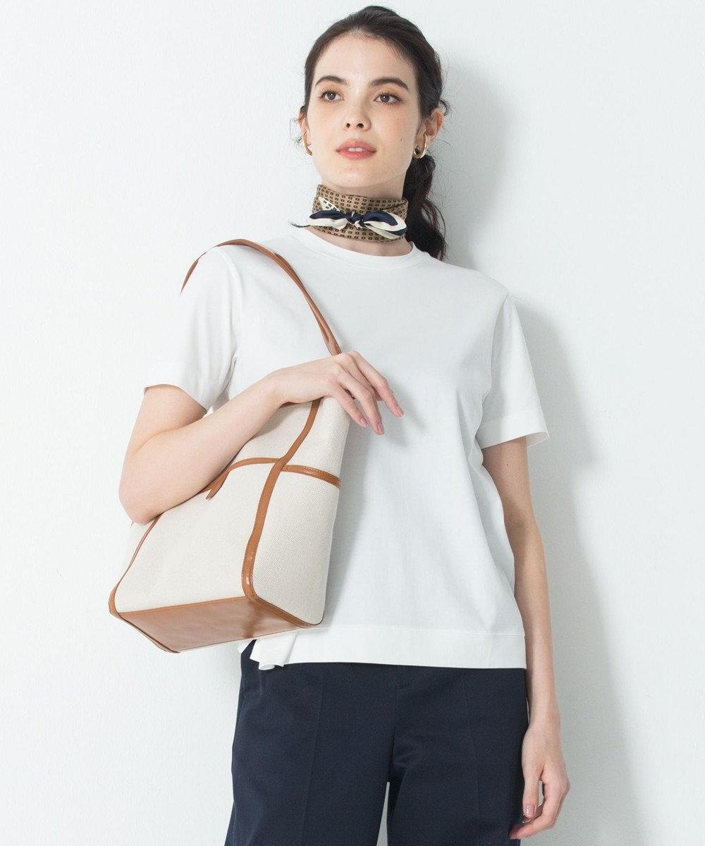 23区 L 【洗える】Suvin Cotton Tシャツ ホワイト系
