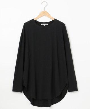 23区 L モイスチャーTCベア ビックシルエットTシャツ ブラック系