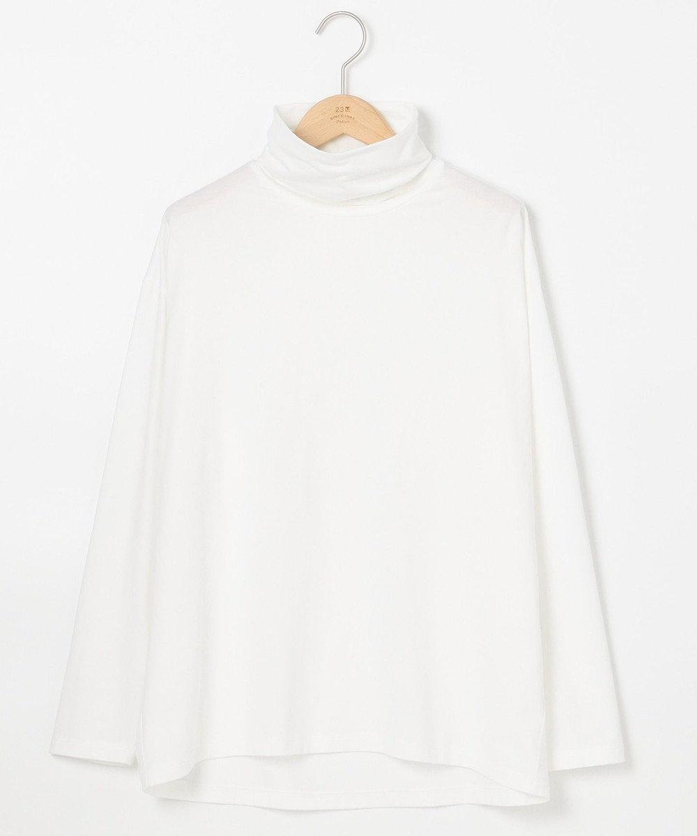23区 L モイスチャーTCベア ビックシルエットハイネックTシャツ ホワイト系