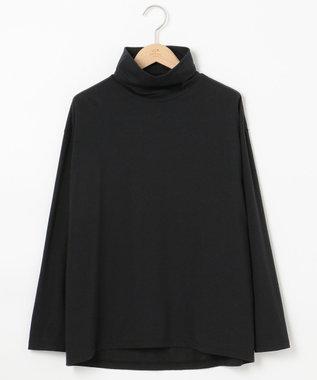 23区 L モイスチャーTCベア ビックシルエットハイネックTシャツ ブラック系