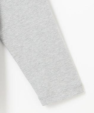 23区 L モイスチャーTCベア ビックシルエットハイネックTシャツ ライトグレー系