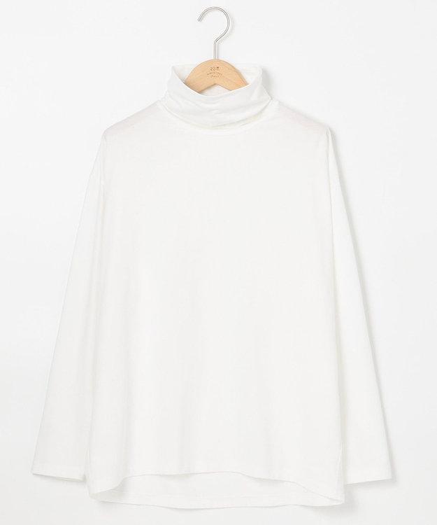23区 L モイスチャーTCベア ビックシルエットハイネックTシャツ