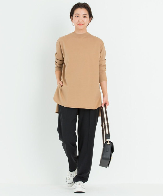 23区 【洗える】コットンベアジャージー ロング Tシャツ