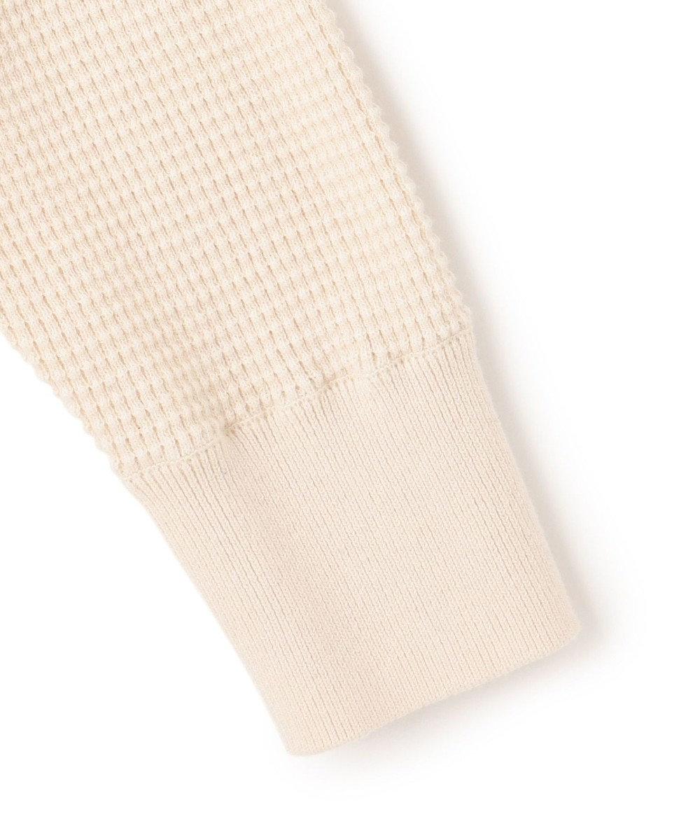 23区 【洗える】コットンカシミヤワッフル スリットネック チュニック アイボリー系