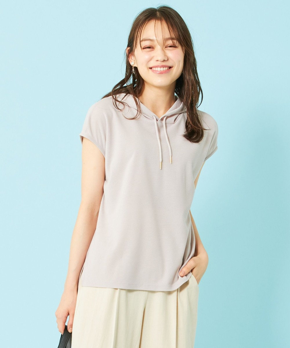 any SiS 【ecolofriend】フレンチスリーブ パーカー ローズグレー