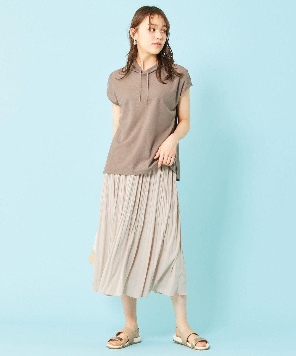 any SiS 【ecolofriend】フレンチスリーブ パーカー モカ