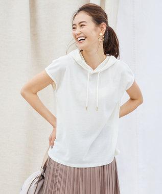 any SiS 【ecolofriend】フレンチスリーブ パーカー アイボリー