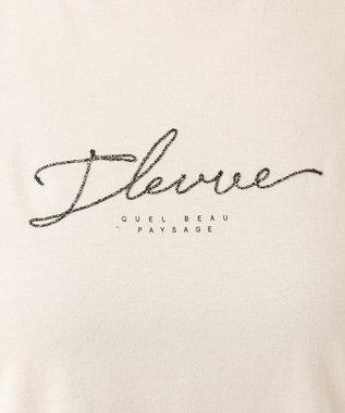 any SiS S コード刺繍ロゴ Tシャツ グレージュ