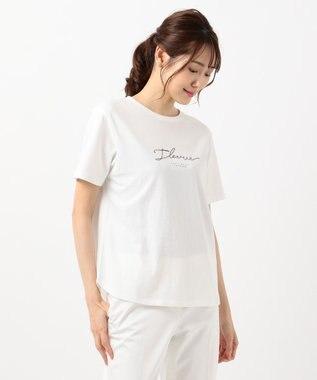 any SiS S コード刺繍ロゴ Tシャツ オフホワイト