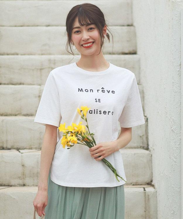 any SiS S ロゴプリント Tシャツ