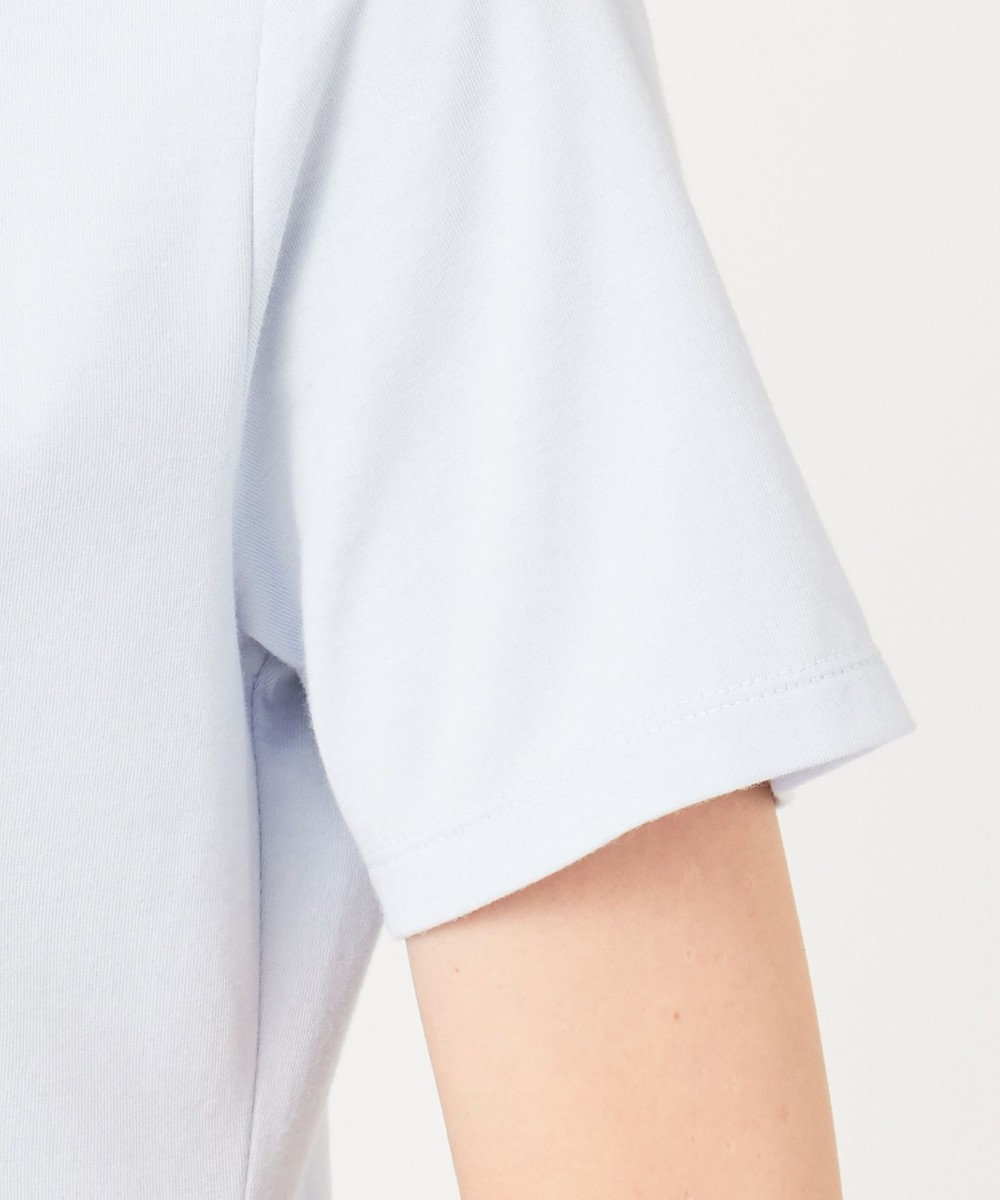 any SiS 【UVケア】コンフォートモダールベーシック クルーネック カットソー アイスブルー