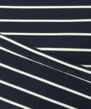 any SiS L 【L'aube】フレンチボーダーカットソー 5分袖 ネイビー
