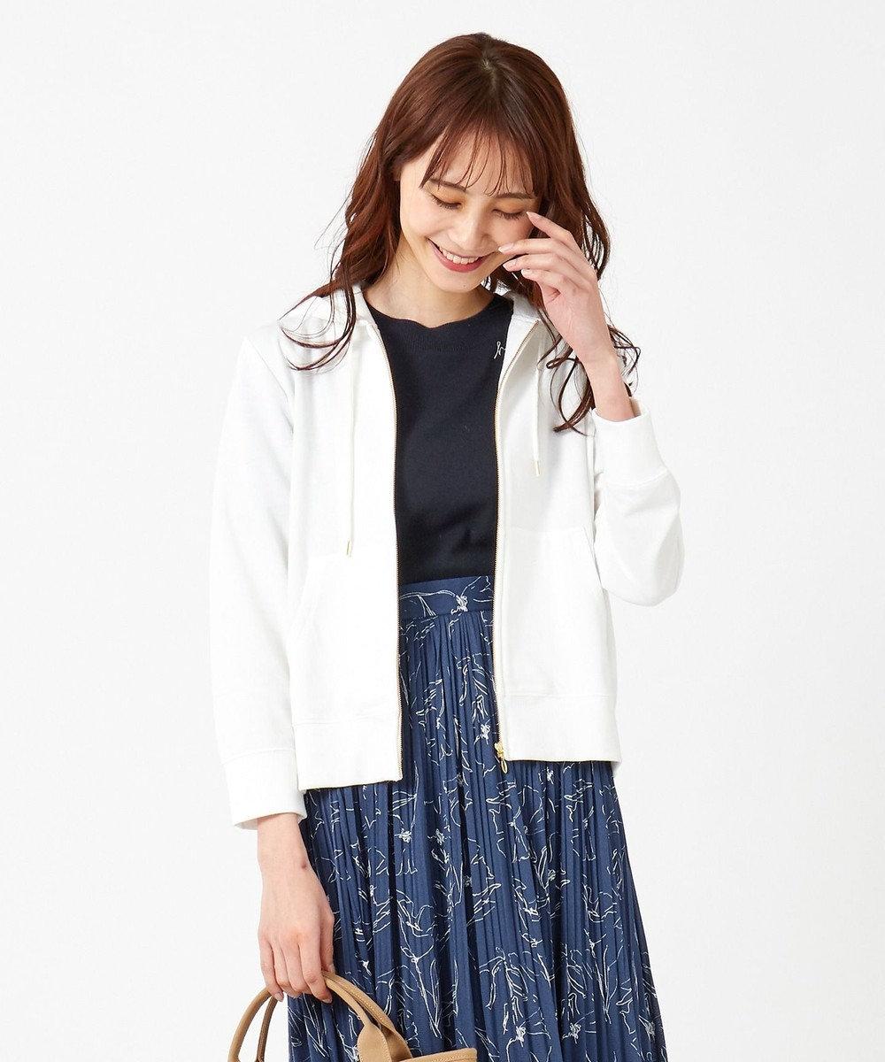 any SiS 【UVケア】 ミニ裏毛 パーカー オフホワイト
