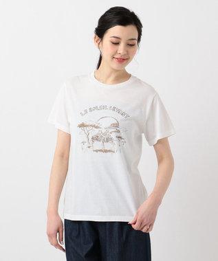 any SiS L 【L'aube】サファリロゴ Tシャツ オフホワイト