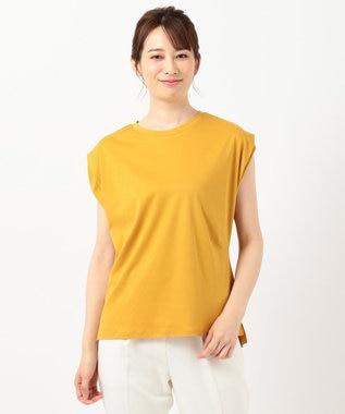 any SiS L 【Ray6月号掲載】Rich cottonスムース フレンチスリーブ Tシャツ マスタード