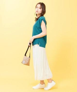 any SiS L 【Ray6月号掲載】Rich cottonスムース フレンチスリーブ Tシャツ ブルーグリーン