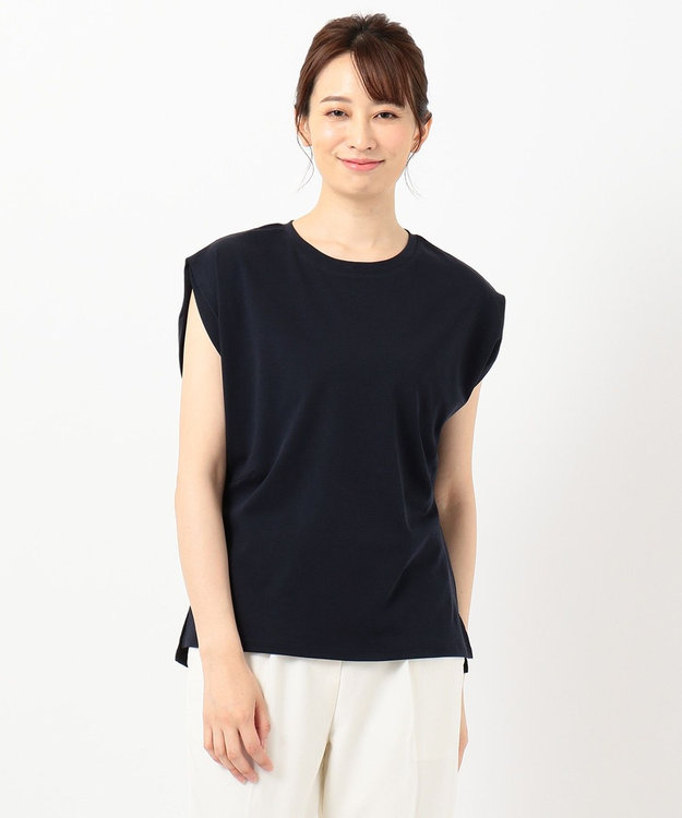 any SiS L 【Ray6月号掲載】Rich cottonスムース フレンチスリーブ Tシャツ