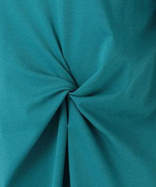 any SiS 【おうち時間に】Rich cottonスムース ロングTシャツ ブルーグリーン