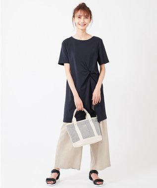 any SiS 【おうち時間に】Rich cottonスムース ロングTシャツ ネイビー