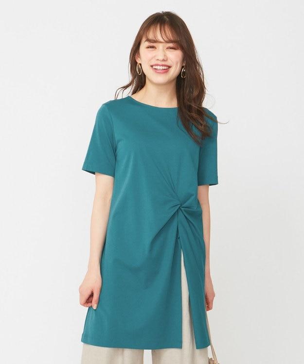 any SiS 【おうち時間に】Rich cottonスムース ロングTシャツ
