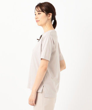 any SiS S 【美人百花6月号掲載】ロゴプリント Tシャツ ローズグレー
