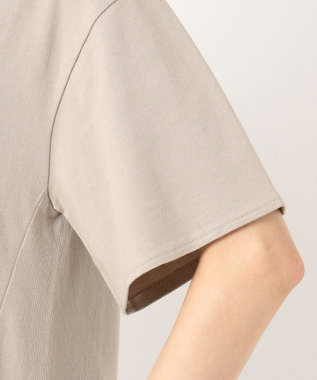 any SiS L 【汗ジミが目立ちにくい】サラコントロールジャージー  Aライン Tシャツ グレージュ